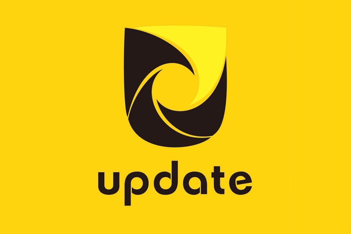 『update』ロゴデザイン
