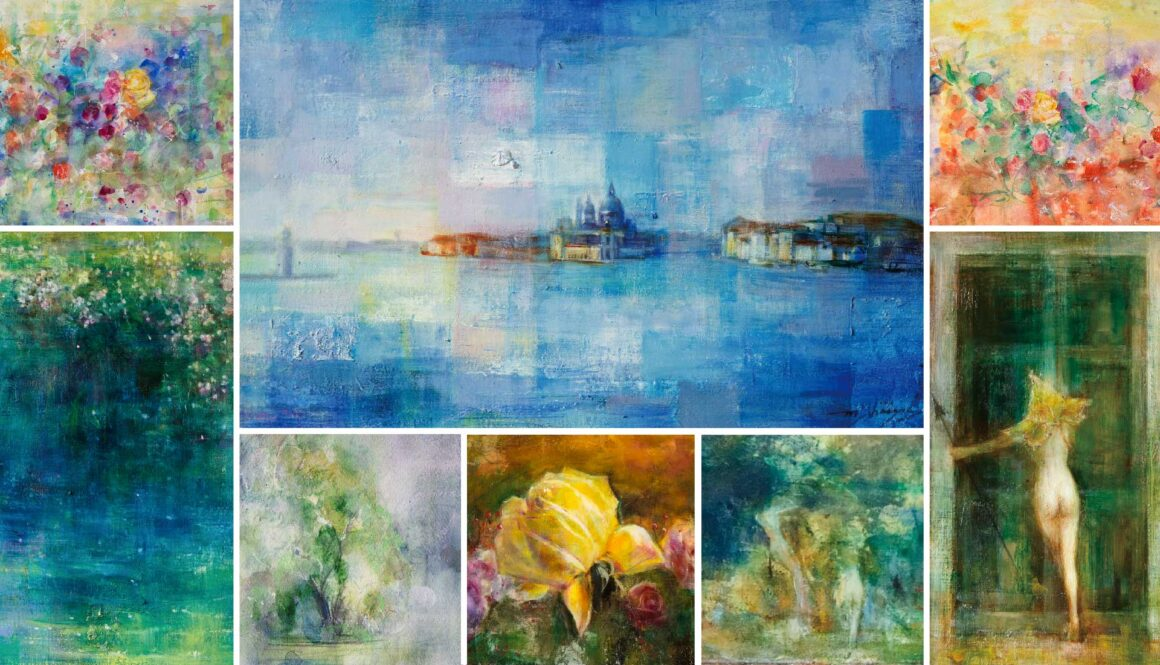 石上誠 絵画展 「青い刻/白い刻」ーEternal Flowー
