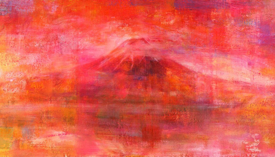 石上誠 絵画展 「赤い刻」ーEternal Flowー