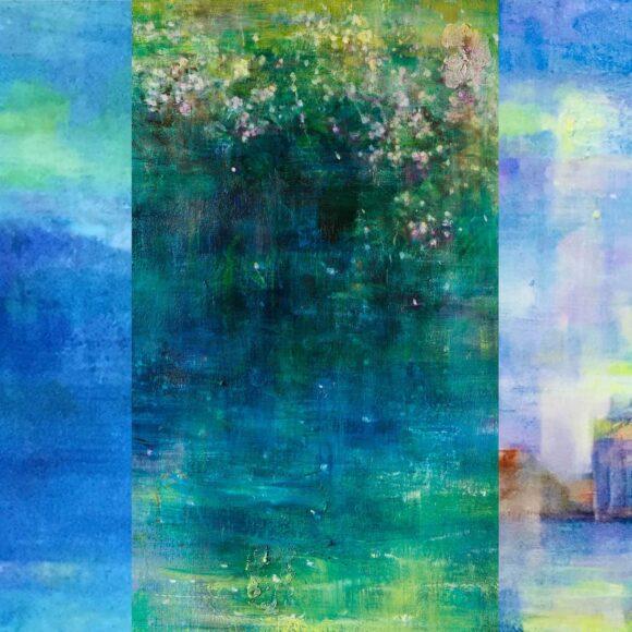 石上誠 絵画展「青い刻」ーEternal Flowー